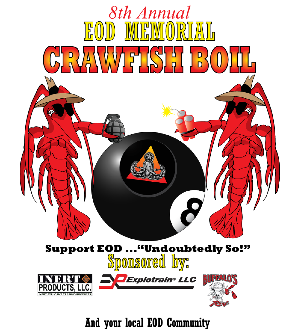 8th Annual EODWF Crawfish Boil